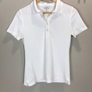 Women's Sz S White Callaway Polo Shirt